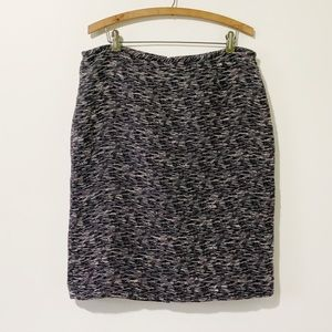 Calvin Klein Black Purple Tweed Pencil Skirt 14